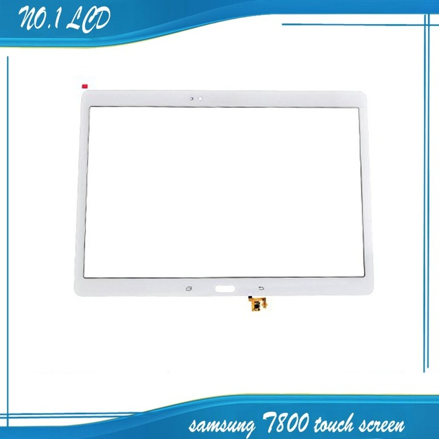 100% novo para samsung galaxy tab s t800 t805 10.5 polegadas 2560x1600 tela branca do toque digitador de vidro frete grátis