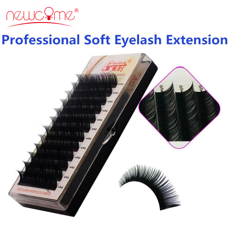 NEWCOME 3D Individual Eyelashes Extension Silk Volume Eye Lashes 100% - Riasan