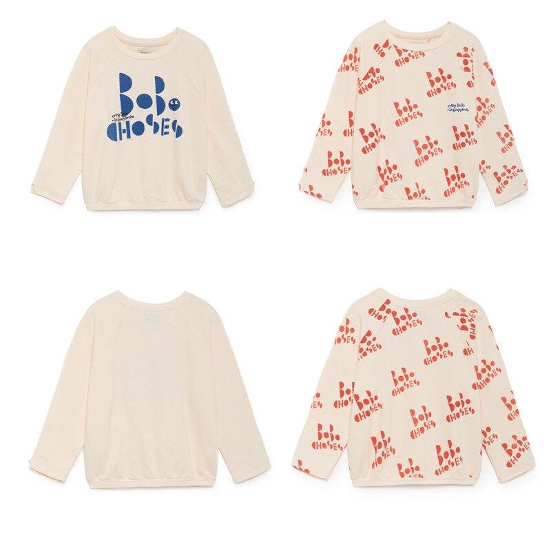 EnkeliBB 2018 Autumn New TAO Bobo Choses Kids Sweatshirt Girls Long Sleeve Autumn T shirt Toddler Girl Bobo Choses Clothes 2018 bobo choses пододеяльник