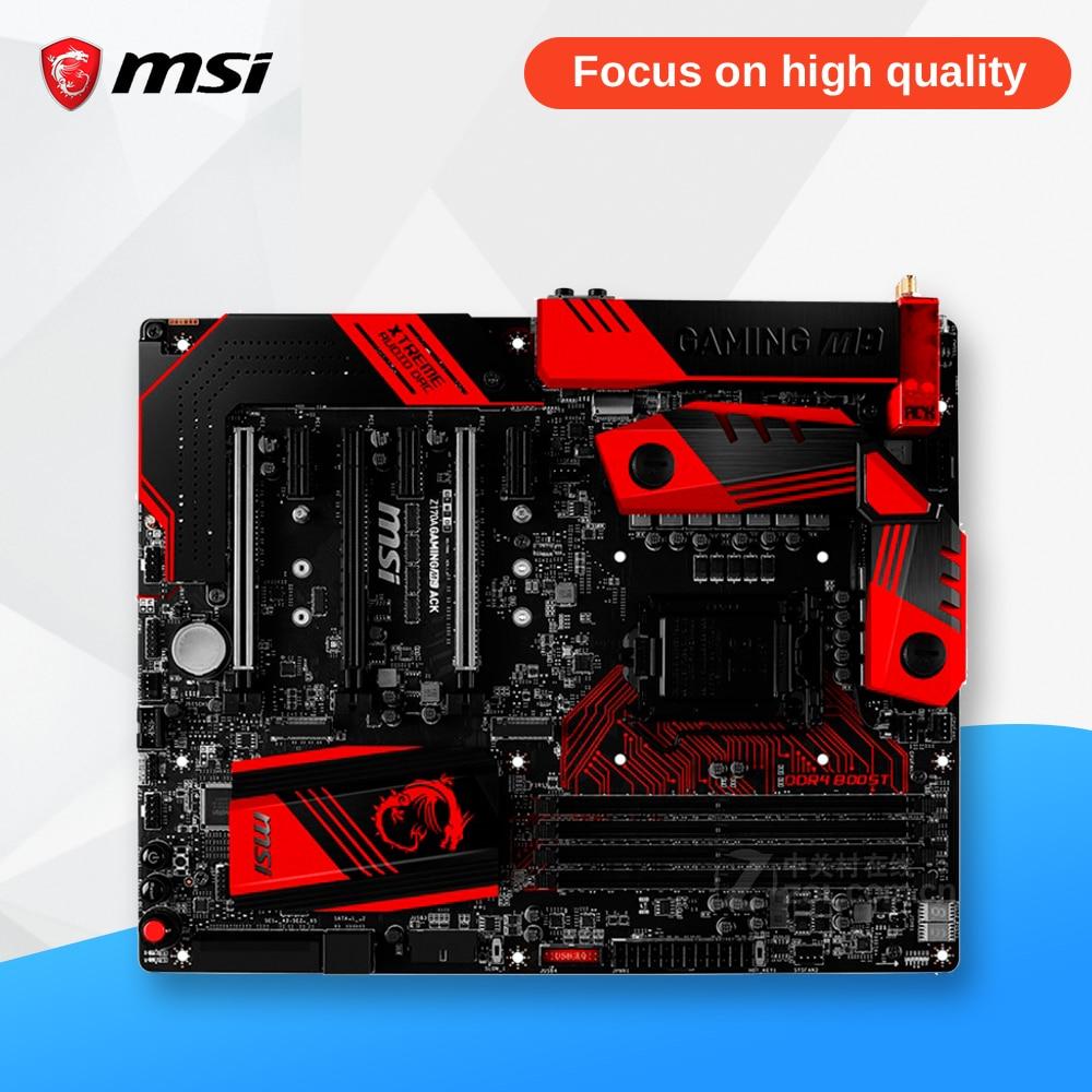 все цены на MSI Z170A GAMING M9 ACK Original New Desktop Motherboard Z170 Socket LGA 1151 i3 i5 i7 DDR4 64G SATA3 ATX онлайн