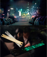 50PCS Car Temporary Telephone Number Parking Card 15 2cm Silver Gold Notification Night Luminous Sucker Plate