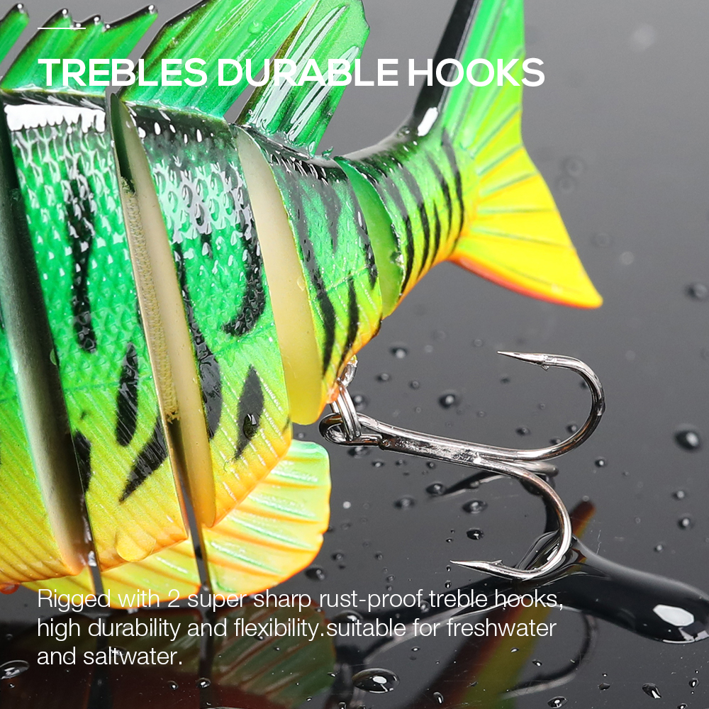 Image 4 - TREHOOK 9.5cm 36g Artificial Big Hard Lure Fishing Lure Jointed Bait Swimbait Crankbaits Fishing Tackle Sea Lures Wobblers Pike-in Fishing Lures from Sports & Entertainment