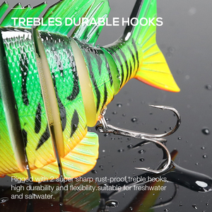 Image 4 - TREHOOK 9.5cm 36g Artificial Big Hard Lure Fishing Lure Jointed Bait Swimbait Crankbaits Fishing Tackle Sea Lures Wobblers Pike