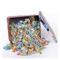Деревянные 1000 штук деревянной железной коробки головоломки для взрослых различные сцены стиль головоломки детские развивающие игрушки тр...