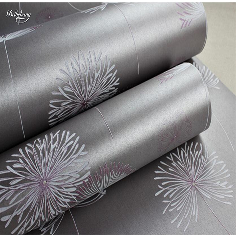 beibehang Non - woven wallpaper cozy bedroom pastoral wallpaper modern simple living room television background wall dandelion 0 53x10m modern blue gray green simple non woven wallpaper living room bedroom wedding room shop decoration wallpaper