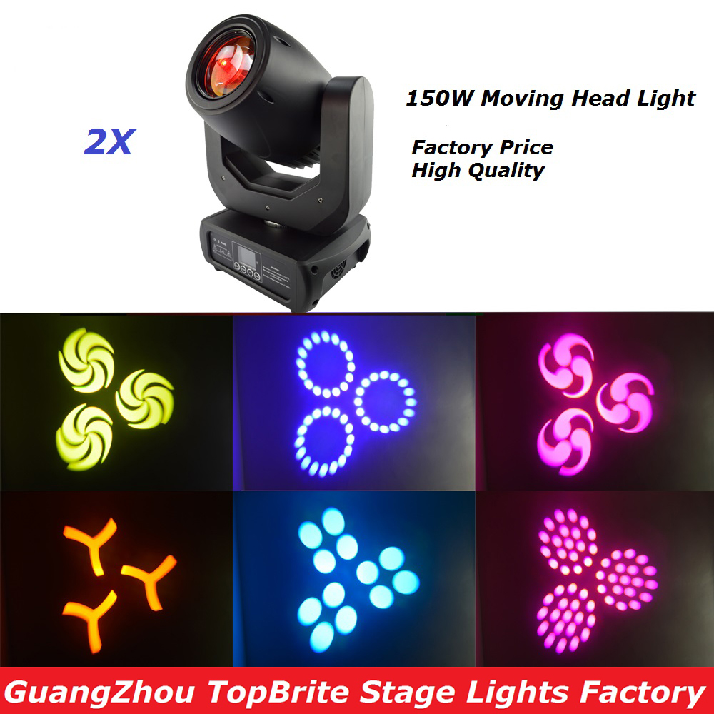 2016 New Arrival 2Pcs/Lot 150W LED Moving Head Beam Light,Stage Sharpy Moving Head Beam Light For Stage DJ Disco Party Lights