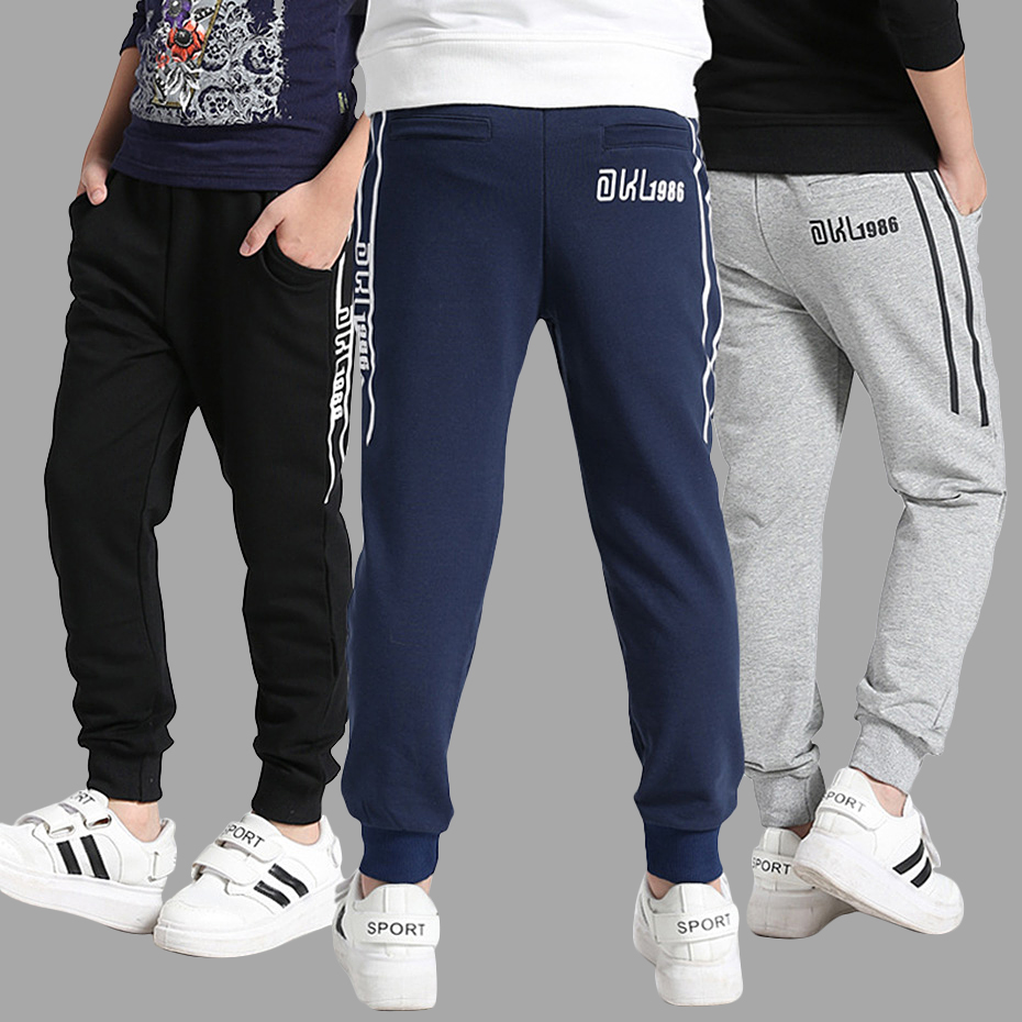 Sports Boys Pants Autumn Pants For Boys Solid Kids Trousers For Boys Winter Kids Pants Teenage Clothes For Boys 6 8 12 14 Years