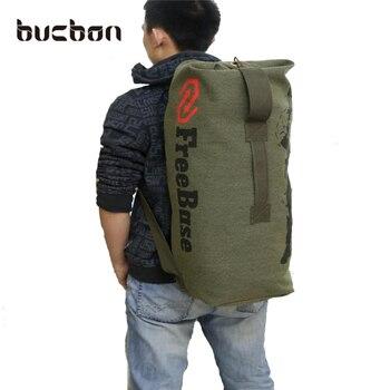 Wytrzymały Bucbon Płótno Na Zewnątrz Podróży Bagażu Torba Camping Piesze Wycieczki Plecak Kobiety Mężczyźni Wojskowy Armia Tactical Plecak Mochila HAC016
