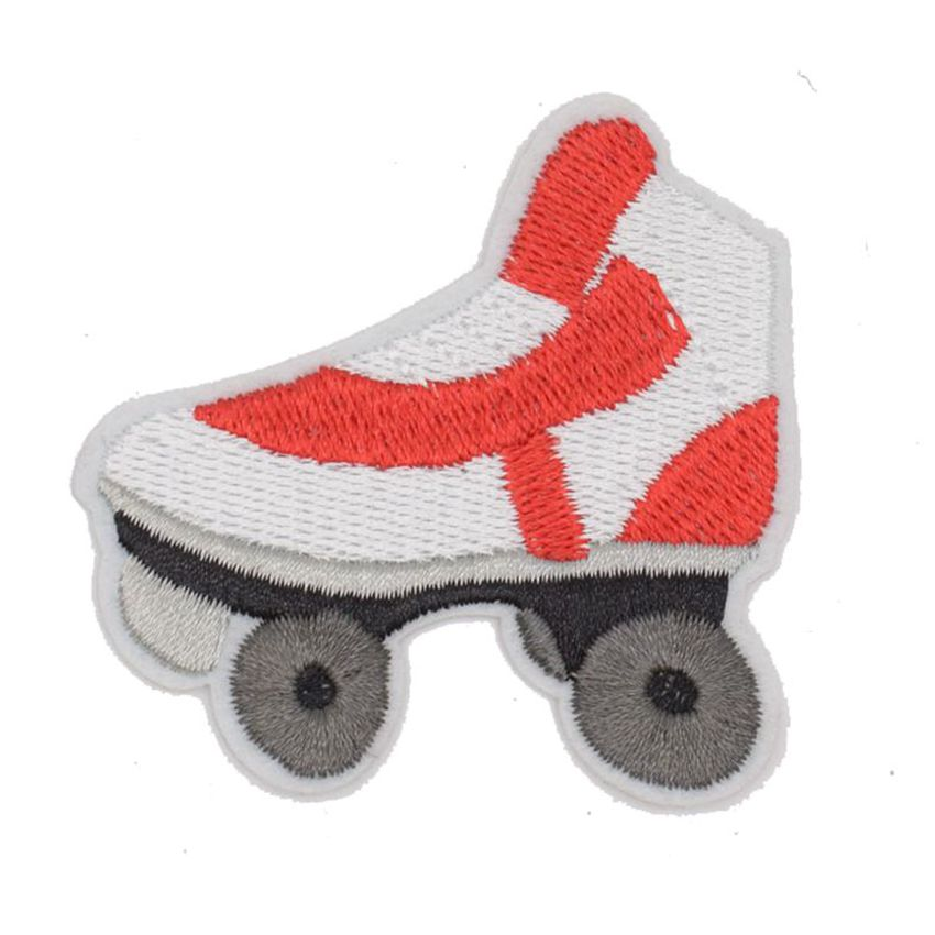 Roller skates skating retro kids boho sports embroidered applique iron on patch clothes bag T-Shirt jeans biker badge applique