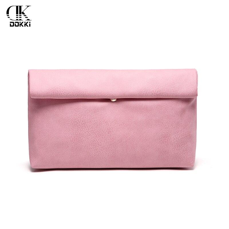 DOKKI Clutch Bag Handbags Party Wedding Evening Bag For Female Phone Purse Women's PU leather handbags Quality Leather