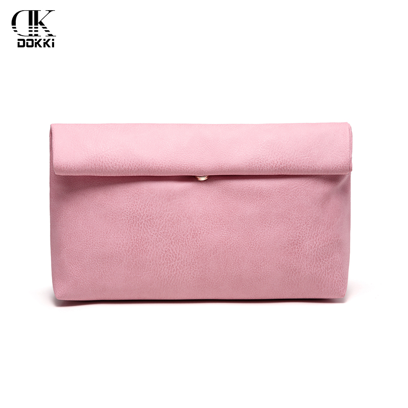 DOKKI Clutch Bag Handbags Party Wedding Evening Bag For Female Phone Purse Women's PU leather handbags Quality Leather