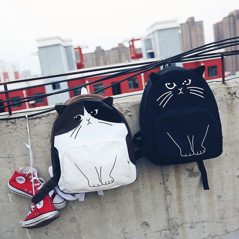2017 Cute Animal Cat Backpack Junior Students Backpacks Neko Atsume School Bags For Teenager Girls Boys Gengar Mochila Feminina