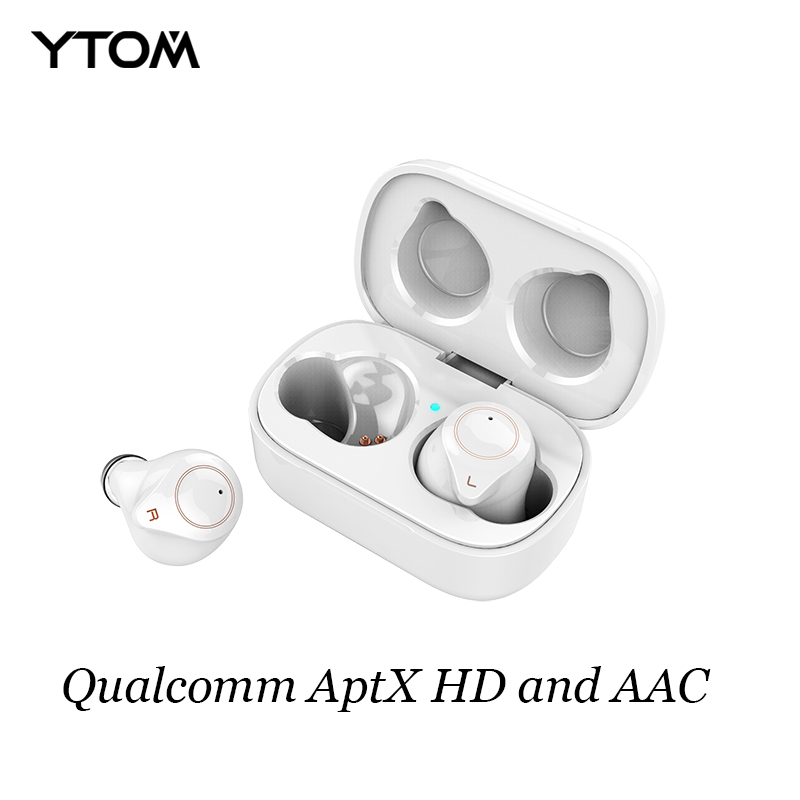T1 Bluetooth 5 0 Earphone support aptx hd AAC Wireless Headphones 6 hours music time with