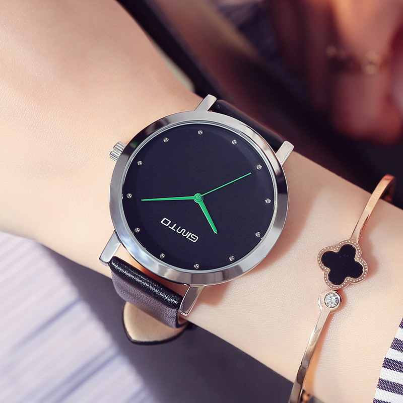 GIMTO Brand Women Watches Girl Dress Quartz Watch Clock Leather Strap Female Bracelet Wristwatch Relogio Feminino Montre Femme kimio new fashion leather strap women quartz casual bracelet watch clock female ladies girl dress wristwatch relogio and box