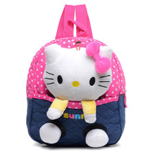 Cyjmydch kity Plush backpack toy bear children backpack Girls Dolls&Stuffed Toys Baby School Bags Kids Baby Bags mochila(China)