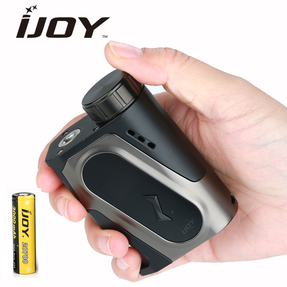 Original IJOY CAPO 100W 20700 Squonker MOD w/ 3000mAh 20700 Battery Max 100W Output Long Time Electronic Cigarette Vape Box Mod original ijoy captain pd270 box mod e cigarette vape 234w ni ti ss tc vapor power by dual 20700 battery new colors