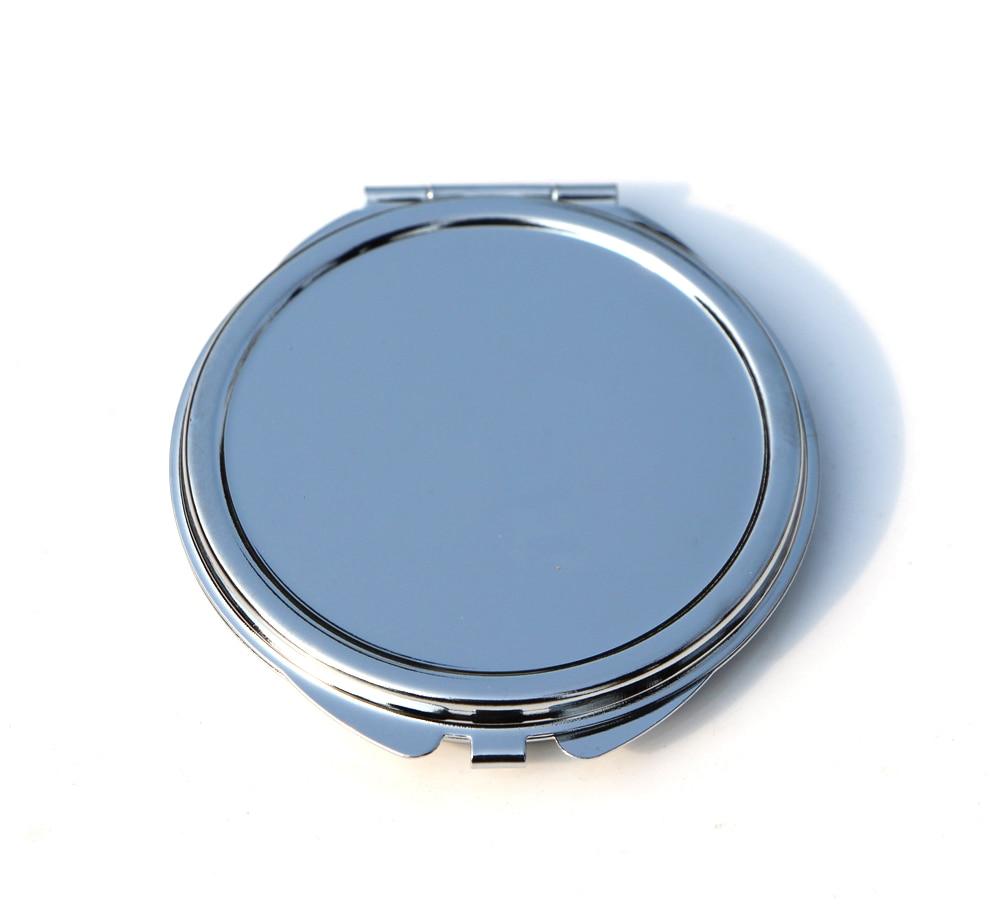 Besorgt Personalisierte Spiegel Kompakte Dünnen Blank Kompakte Spiegel Bevorzugungen Runde Metall Silber Make-up Spiegel Werbe Geschenk #18032 Spiegel