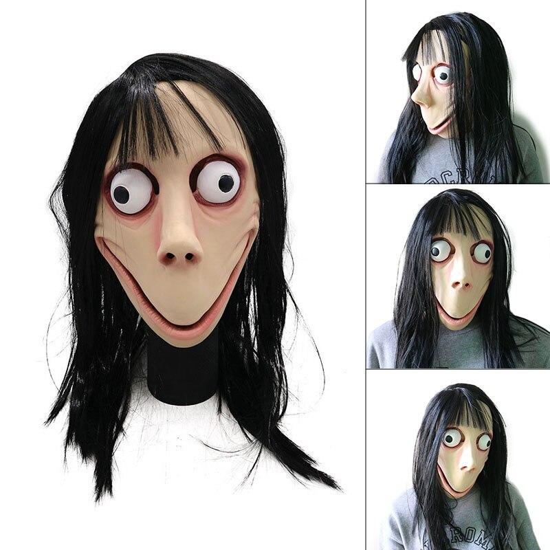 Страшная маска-призрак латекс игровой Ужас Полный Маска Голова с париком для Хэллоуина вечерние WXV распродажа