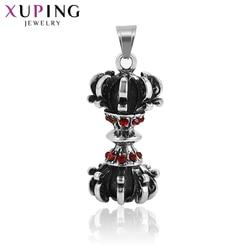 11.11 oferty Xuping czarny w kolorze moro mężczyźni Gothic wisiorek biżuteria ze stali nierdzewnej w szalonym stylu urodziny prezent S176.1-33995