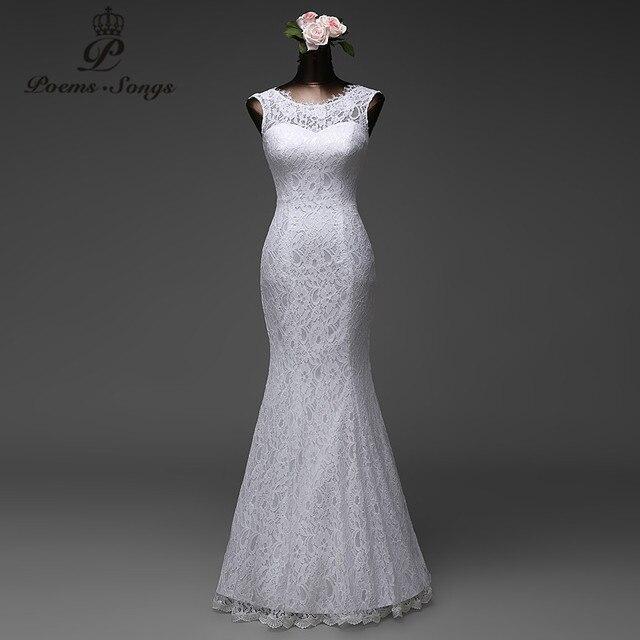 Poemssongs на заказ высокое качество кружева длина пола русалка свадебные платья vestido де noiva невеста платья