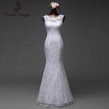 Poemssongs custom made yüksek kaliteli dantel kat uzunluk Mermaid gelinlik 2020 vestido de noiva gelin elbiseler