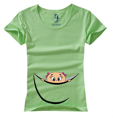 """New Design """"baby peeking out"""" Funny and Cute  Casual Maternity Shirt maternity clothing plus size XXL Free Shipping"""