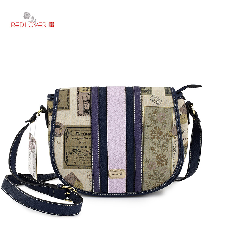 ФОТО Women's messenger bag PU leather shoulder bag Preppy style crossbody bags Brand New Cover bag Red Lover