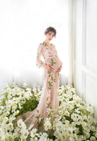 NEW Pregnant Maternity Women Photography Fashion Props Flower Dress Romatic Fancy Baby Shower Free shipping