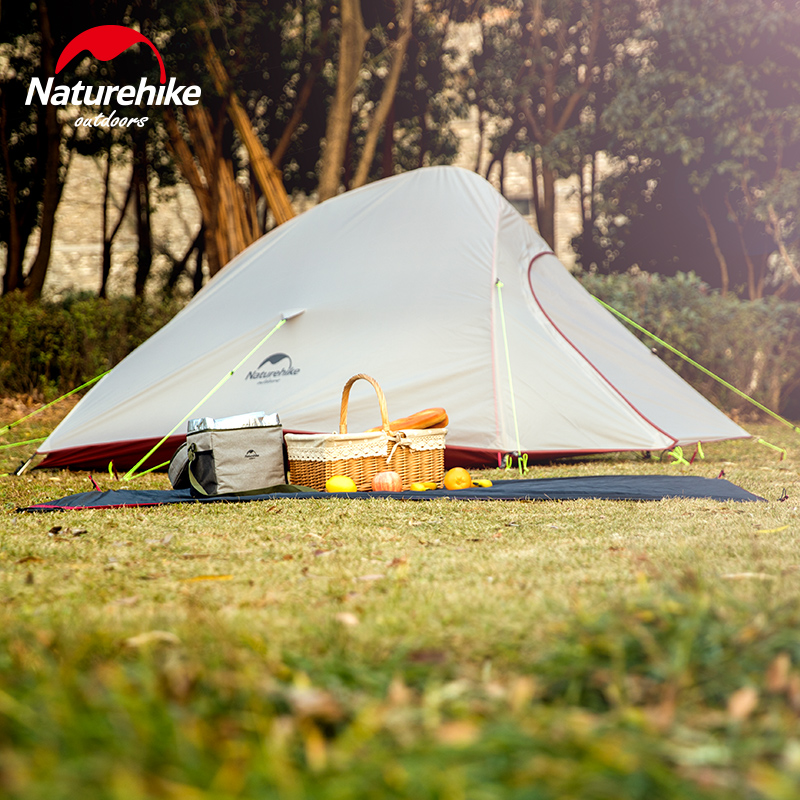 Naturehike CloudUp Series Ultralight Hiking Camping Tent 20D Fabric For 2 Person With Mat Outdoor Traveling Equipment 5