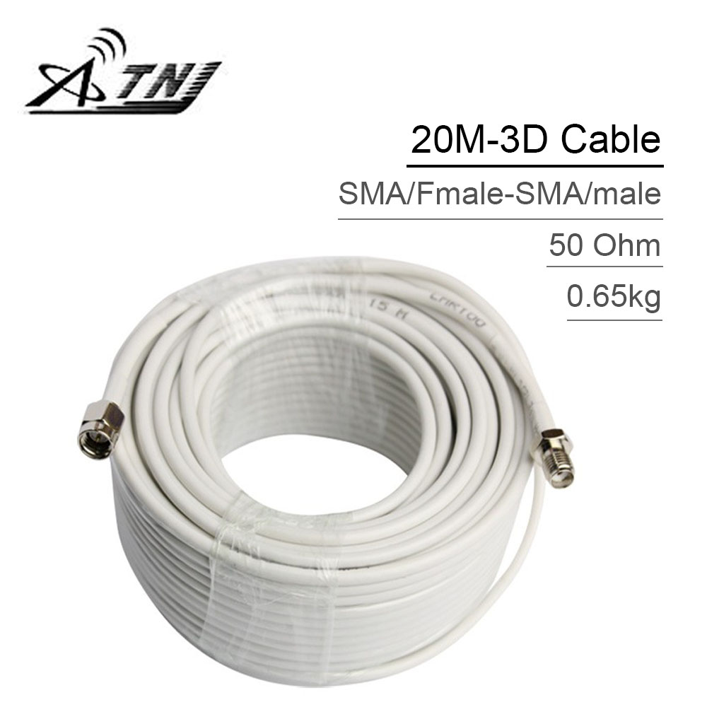 Top Quality ,ATNJ 3D-FB RG58 20m SMA/Male Coaxial Cable