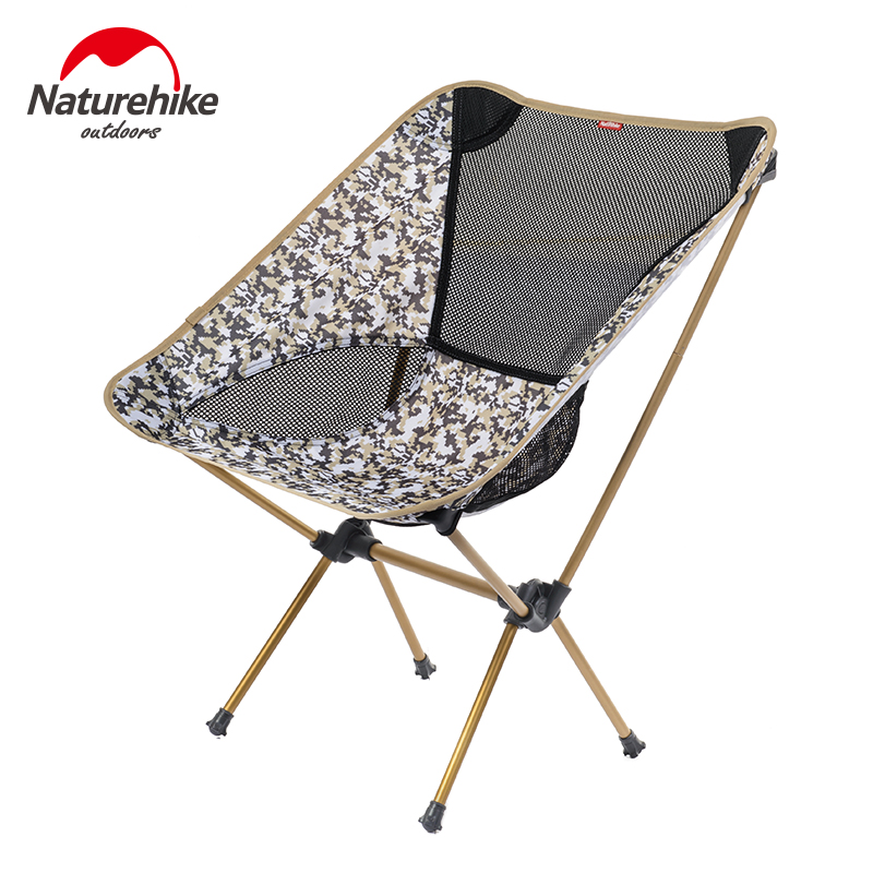 NatureHike Outdoor Folding Chair Portable Folding Camping Chair Foldable Chair Fishing Chair for Picnic BBQ Beach 4 Colors naturehike portable fishing chair foldable 2 colors steel folding hiking picnic barbecue beach vocation camping chairs