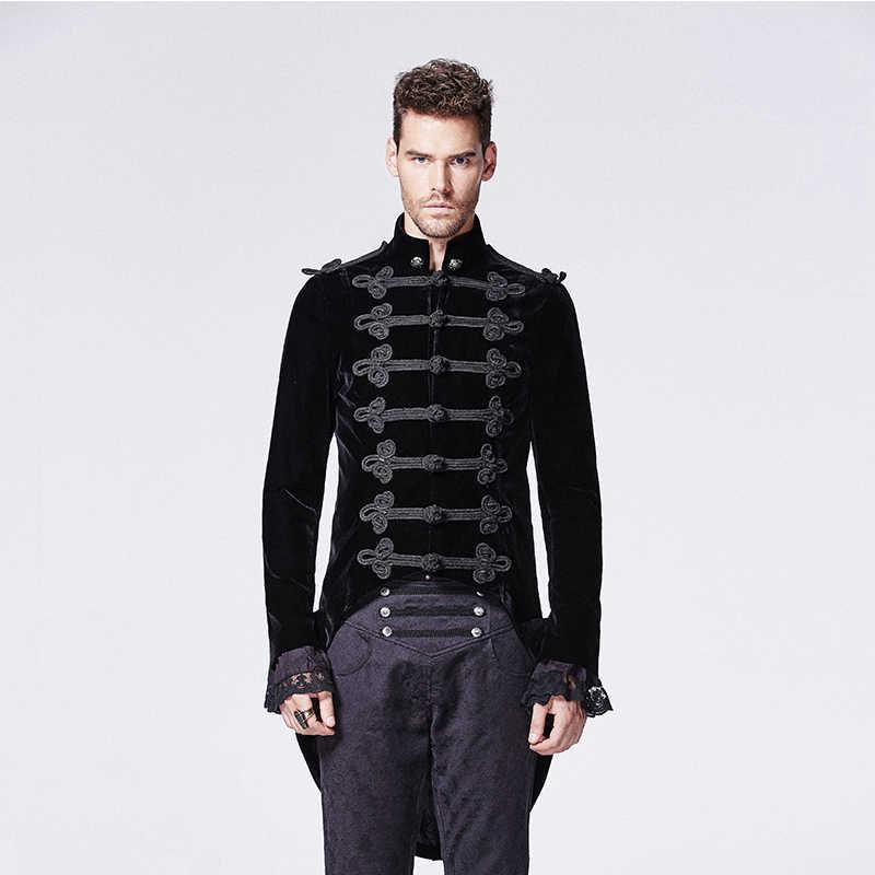 Gothic Black Noblemen Tailcoat With Chinese Button Knot Victorian Era Historical Alternative Swallow Tail Men Velvet Coats Mens Velvet Coats Velvet Coat Mencoat Men Aliexpress