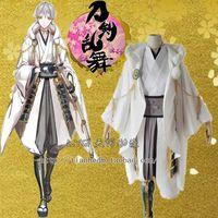 Touken Ranbu Online Cosplay Tsurumarukuninaga Cos Halloween Full Set 7in1 Coat Shorts Leg Sets Necklace Gloves