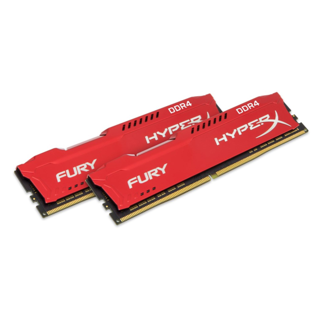 HyperX FURY rouge 16 GB DDR4 3200 MHz Kit, 16 GB, 2x8 GB, DDR4, 3200 MHz, 288-pin DIMM, rouge