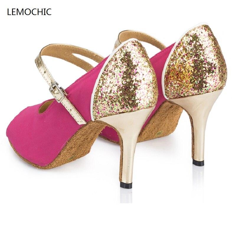 LEMOCHIC hot selling latin dance shoes for women new jazz samba salsa tango tap pole belly cha-cha dancing high heel shoes