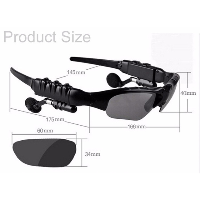 Mambaman Sunglasses Bluetooth Headset Outdoor Glasses Earbuds Music with Mic Stereo Wireless Headphone for iPhone Samsung xiaomi