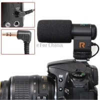 Brand New Mic-109 Directional Stereo Microphone with 90/120 Degrees Pickup Switching Mode for DSLR & DV Camcorder  Free Shipping