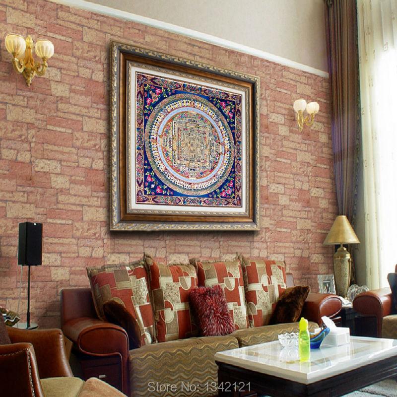 Framelessoil Paintings Canvas Colorful Buddha Sitting Wall: Popular Thangka Painting-Buy Cheap Thangka Painting Lots