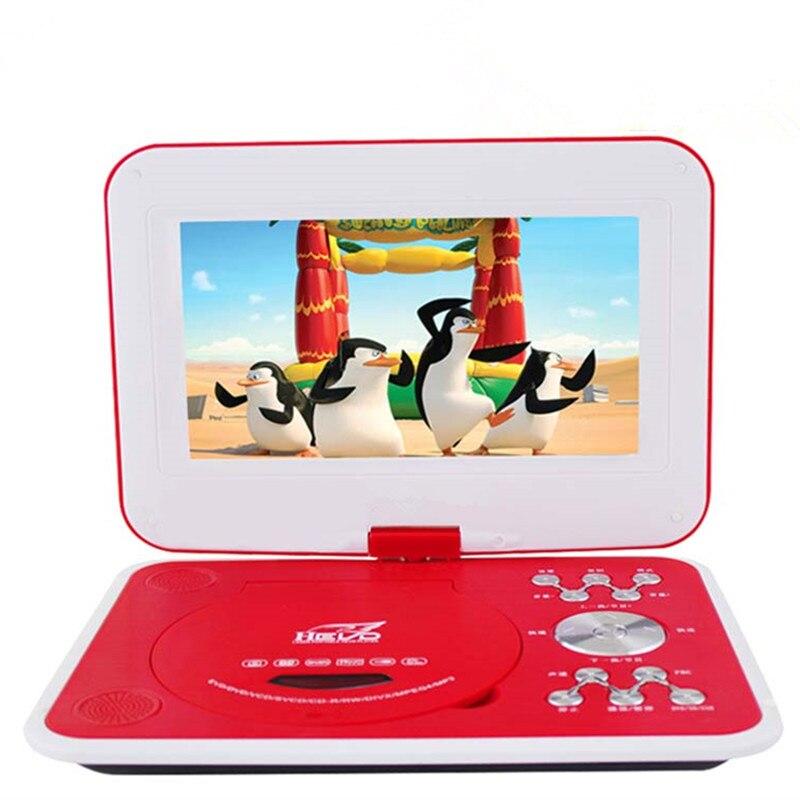 12 pouces Portable 3D HD DVD EVD lecteur Mobile TV VCD CD MP3/4 SD USB jeu Mobile tv disque jeu vidéo machine livraison gratuite