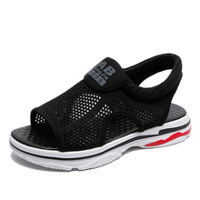 Women Sandals 2019 Summer New Hollow Breathable Mesh Casual Shoes Running Shoes Flat Fish Mouth Sandals Flats Black Shoes Woman real picture white crystal women sandals zipper women shoes flats casual vacation shoes women wedding shoes flat summer shoes