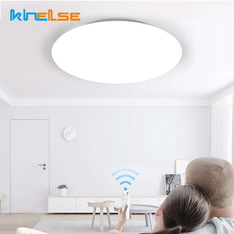 Round LED Ceiling Light Surface Mount Fixture Lamp Remote Control Dimmable Bedroom Living Bathroom Kitchen Dining