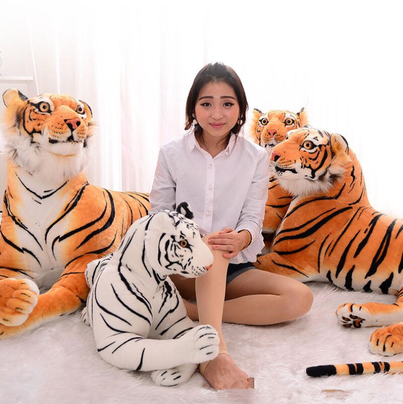 ФОТО Huge Size Kawaii Plush Kids Toys Tiger Animal Toys White Yellow Stuffed Doll Animal Pillow Children Kids Gifts Free Shipping