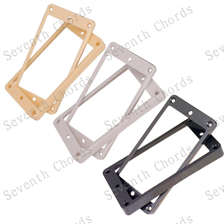Curved Humbucker Pickups Frame Mounting Rings for LP Electric Guitar--Black