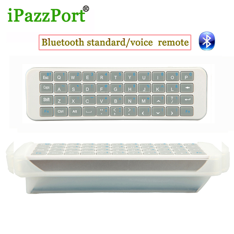 Ipazzport mini <font><b>Bluetooth</b></font> QWERTY <font><b>keyboards</b></font> Air mouse Equipped with two silicon <font><b>Flexible</b></font> convenient for PC, Andorid TV Set Top Box