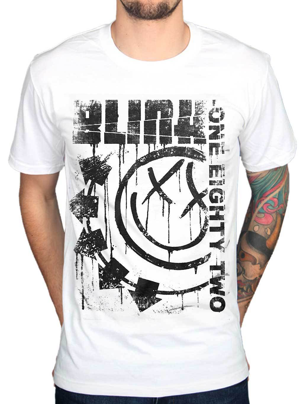 Official <font><b>Blink</b></font> <font><b>182</b></font> Spelled Out Jumbo Print T <font><b>Shirt</b></font> Rock Band Merch All Sizes Funny Short Sleeve Cotton T-<font><b>Shirts</b></font> Top Tee image