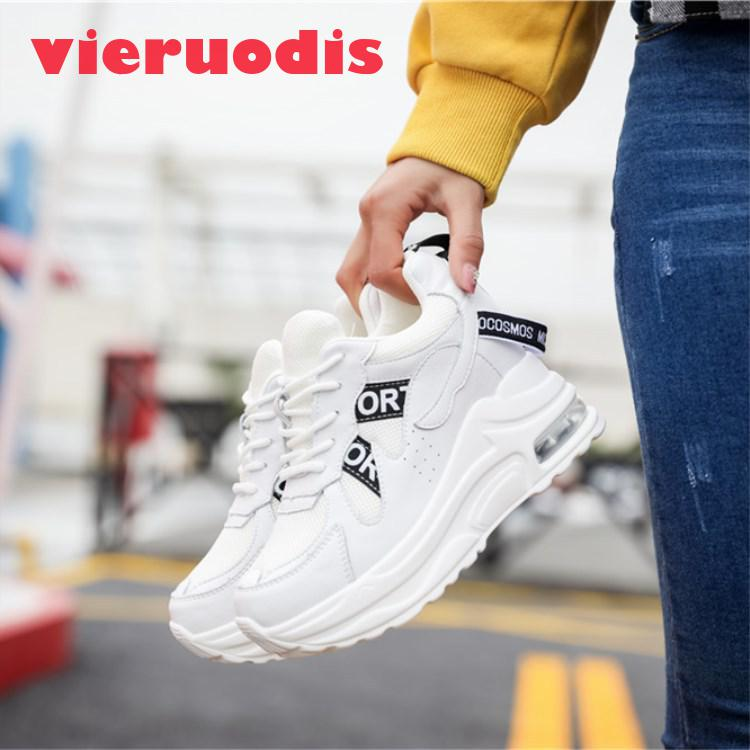 019 Gain La En Cuir Dans Nouvelles De Filet Respirant Chaussures Femmes Chauffée Sport White beige Fond Loisirs Le rqrXRg