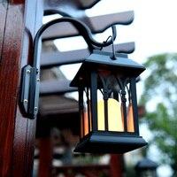 مصدر للطاقة الشمسية في الهواء الطلق LED شمعة ضوء ساحة حديقة ديكور شجرة قصر فانوس ضوء شنقا جدار مصباح داغ-سفينة