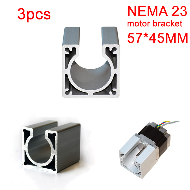 Nema23 Motor Mounts Base 57X45mm Metal Stepper Motor Bracket For Diy Cnc Router Machine