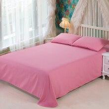 Nueva colcha de cama clásica de poliéster, colcha de color sólido, fundas de cama dobles para el hogar, ropa de cama estampada, Sábana de cama rosa suave
