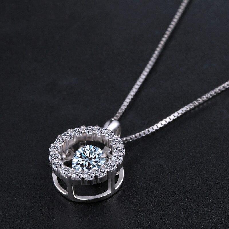 Collar de plata 925 cristalino de la manera europea colgantes - Joyas - foto 3